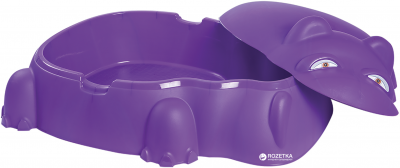 Песочница Бегемотик Starplast с крышкой Фиолетовая (18-518) (5102681940080)