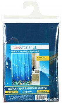 Фіранка для ванної Vanstore Dolphins 2,40м (комплект)