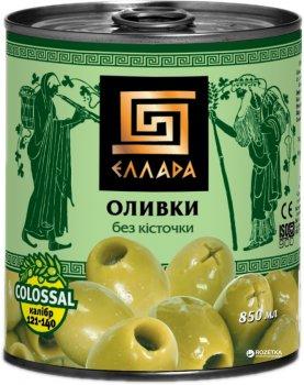 Оливки зеленые без косточки Ellada Colossal 850 мл (4820186140217)