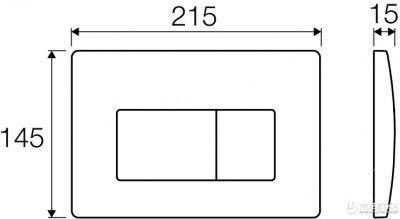 Панель смыва VALSIR P1 Tropea 3 хром матовый VS0871337