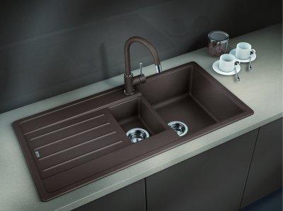 Кухонна мийка BLANCO LEGRA 6S (522212) кава + зливний гарнітур (231007)