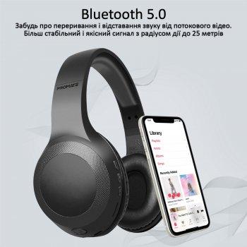 Накладні Bluetooth навушники Promate LaBoca Bluetooth 5.0 Black (laboca.black)