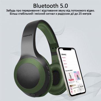 Накладные Bluetooth наушники Promate LaBoca Bluetooth 5.0 MidNight Green (laboca.midnightgreen)