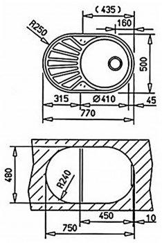 Кухонна мийка TEKA DR 77 1B 1D 40127301 матова