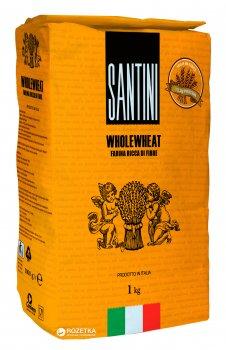 Мука из мягких сортов пшеницы Santini цельнозерновая 1 кг (8025566003632)