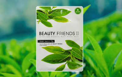 Маска для лица Beauty Friends II с зеленым чаем 23 г (8809175171216)