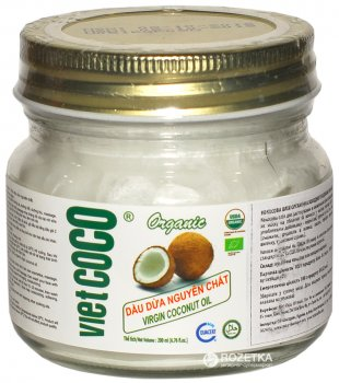 Кокосовое масло VietCoco Organic Virgin Coconut Oil 200 мл (8938506854709_8936079560263)