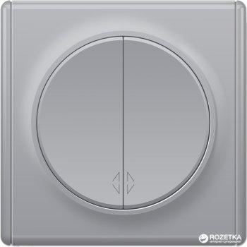 2-клавишный проходной выключатель OneKeyElectro Florence Серый (1Е31601302)