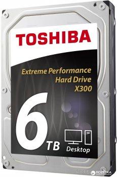 "Жесткий диск Toshiba High-Performance X300 6TB 7200rpm 128MB HDWE160UZSVA 3.5"" SATA III"