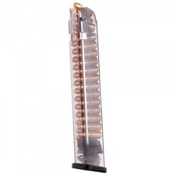 Магазин ETS для Glock 43 9мм (9х19) прозрачный, 12 патр.