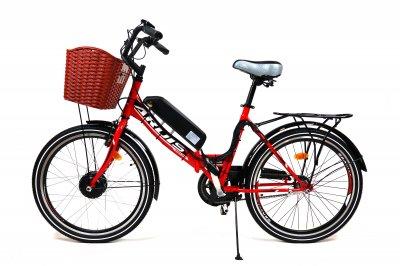 Электровелосипед складной FOLD 350Вт 13Ач с LCD пультом управления красный
