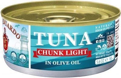 Тунец San Eduardo целый в оливковом масле 150 г (5055448005051)