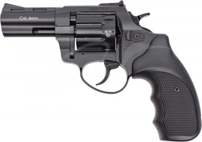 """Револьвер флобера STALKER S 3 """". Матеріал рукояті - пластик Black"""