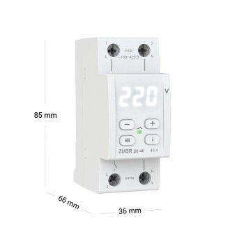 Реле напряжения ZUBR D2-40 (белая индикация)
