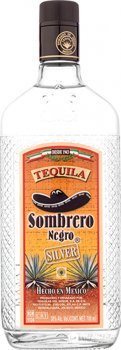 Текила Sombrero Negro Silver 0.7 л 38% (7501054852506)
