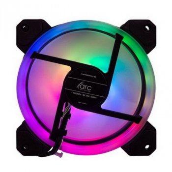 Вентилятор Tecware ARC Spectrum F3 Starter Kit (TW-ARC-F3-SK4), 120x120x25мм, 3-pin, черный с белым