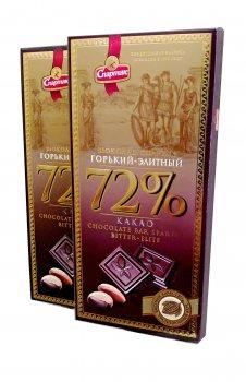 Шоколад Спартак Горький 72% Элитный пенал 90 г