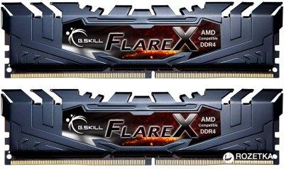 Оперативная память G.Skill DDR4-3200 16384MB PC4-25600 (Kit of 2x8192) Flare X Black (F4-3200C14D-16GFX)