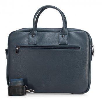 Сумка для ноутбука з екошкіри унісекс 91-3P-604-7 темно-синій