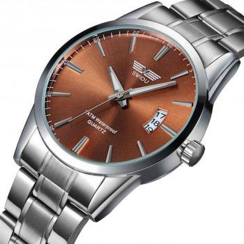 Мужские часы Swidu SWI-021 Silver-Brown (3089-8715)