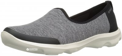 Сліпони Crocs Women's Busy Day Heather Skimmer 204727-030 Чорні із сірим