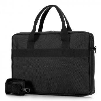 """Чоловіча сумка для ноутбука 15,6 """"класична 91-3P-700-1 чорний"""