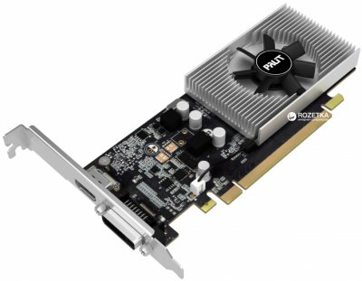 Palit PCI-Ex GeForce GT 1030 2GB GDDR5 (64bit) (1227/6000) (DVI, HDMI) (NE5103000646-1080F)