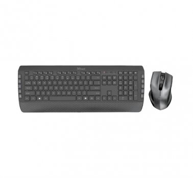 Комплект бездротової (клавіатура, миша) Trust Tecla-2 (23239) Black USB