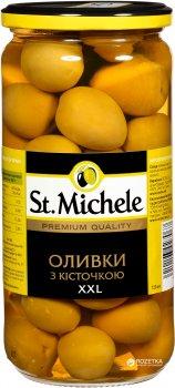 Оливки зелені з кісточкою St. Michele Гордана XXL 720 мл (8411578503879)