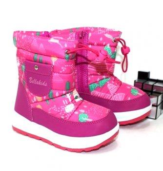 Сапоги дутики для девочки Ailaifa B-20 розовый