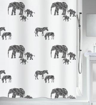 Шторка для ванної Spirella Serengeti 180x200 Polyester Чорна (10.19148)