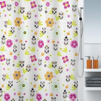 Шторка для ванної Spirella Panda Lide 180x200 Polyester Різнобарвна (10.18471)