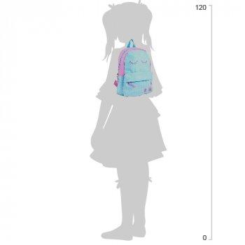 Рюкзак підлітковий Yes Weekend ST-15 Closed eYES 35x27x13 см 13 л Блакитний з рожевим (553523)