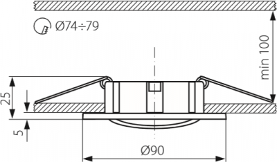 Світильник точковий Kanlux Delko CT-DTO50-C/M (KA-19531)