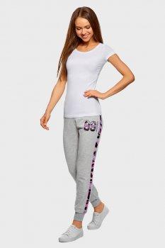 Жіночі сірі спортивні штани Oodji 16701050/46919/2029B