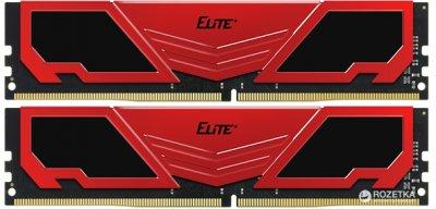 Оперативна пам'ять Team Elite Plus DDR4-2400 8192MB PC4-19200 (Kit of 2x4096) Red (TPRD48G2400HC16DC01)