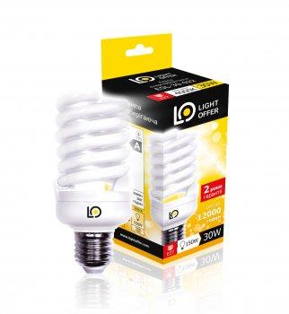 Енергозберігаюча лампа Light Offer Т2 Spiral ЕSL 30W E27 4000К 1900Lm ( ESL - 30 - 022)
