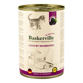 Консервы Baskerville Лосось с ежевикой для котят (400 г)