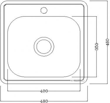 Кухонная мойка Smart D4848P матовая