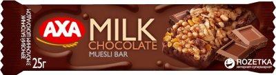 Упаковка батончиков АХА с молочным шоколадом 24 шт x 25 г (4820008125736_4820008125750)