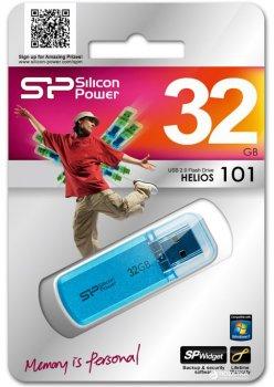 Silicon Power Helios 101 32 GB Blue (SP032GBUF2101V1B)