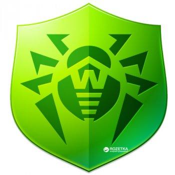 Антивірус Dr.Web Anti-virus 4 ПК/1 рік (поновлення ліцензії, електронний ключ у конверті)