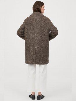 Пальто H&M 0781608-0 Коричневе
