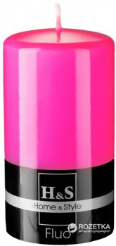 Свеча Rak Флуо 70/130-038 13 см Розовая (5901955039310)