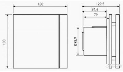 Вытяжной вентилятор SOLER&PALAU SILENT-100 CZ DESIGN SWAROVSKI