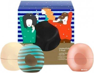 Набор бальзамов для губ EOS Мерцающий Имбирь, Перечная мята и Ваниль 3x7 г (832992014587)