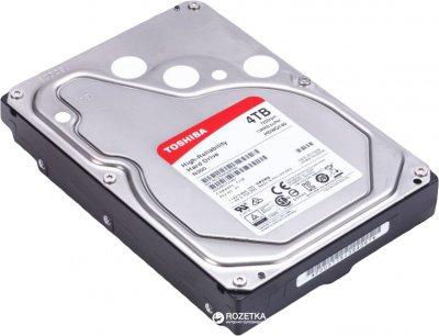 "Жесткий диск Toshiba N300 4TB 7200rpm 128MB HDWQ140UZSVA 3.5"" SATAIII"