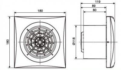 Витяжний вентилятор SOLER&PALAU SILENT-200 CZ IVORY