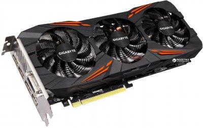 Gigabyte PCI-Ex GeForce GTX 1080 G1 Gaming 8192MB GDDR5X (256bit) (1695/10010) (DVI, HDMI, 3 x Display Port) (GV-N1080G1 GAMING-8GD)