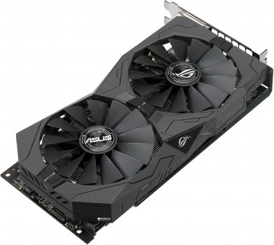 Asus PCI-Ex Radeon RX570 ROG Strix OC 4GB GDDR5 (256bit) (1300/7000) (2 x DVI, HDMI, DisplayPort) (ROG-STRIX-RX570-O4G)